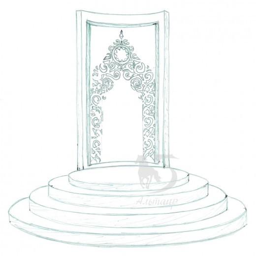 Эскиз мусульманского памятника на заказ